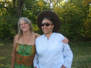 Annie Finch and Latasha Diggs at BEI