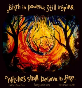 Weekly spell poetry witch believe in fire